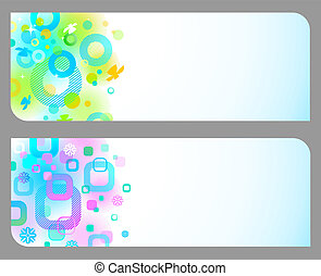 Abstract colorful vector banners