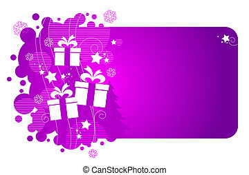 Vector frame  with holiday gifts