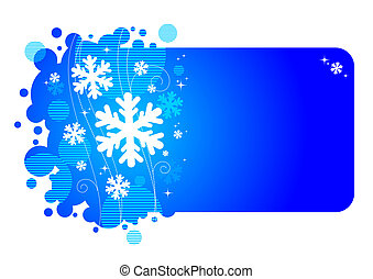 Winter vector frame
