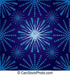 Vector seamless Christmas pattern with grunge snowflakes...