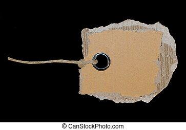cardboard blank tag isolated