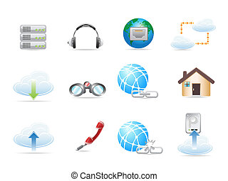 Network Icon sets - Web Network Icon Set. Vector...
