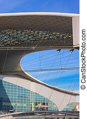 Modern roof construction of sheremetyevo airport, Moscow,...