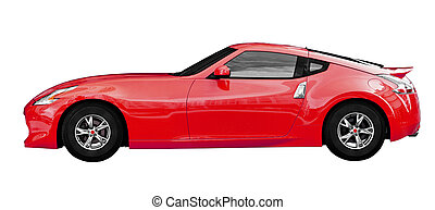 Sport coupe - Fantasy super car on white background