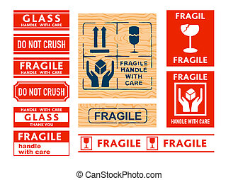 Handle with care stickers - Shipping Handle with care,...