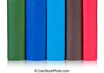 Books with colorful covers.