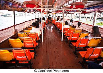 ferry boat in bangkok