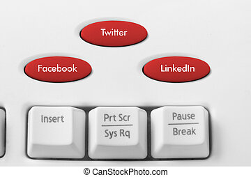 Social Media Concept on Keyboard