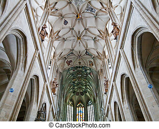 historic cathedral indoor - historic medival cathedral