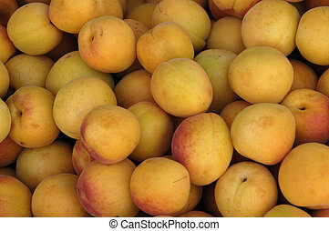 apricots in a supermarket