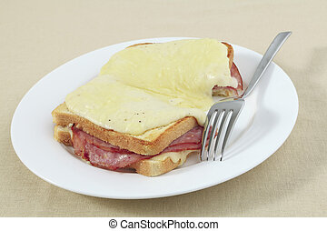 Croque monsieur horizontal - Croque monsieur, a traditional...