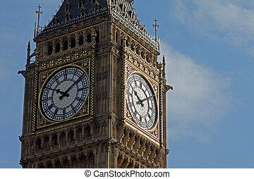 Ten past ten on Big Ben taken in close-up