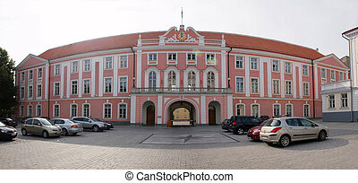 Estonia parliament house - Tallinn city - capital of Estonia