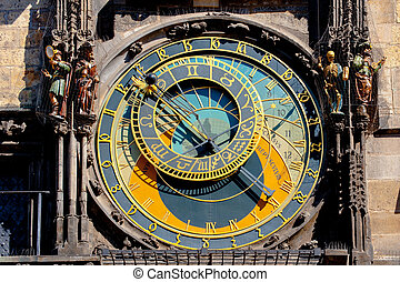 Prague astronomical clock - The Orloj, famous astronomical...