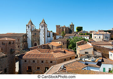 Caceres historical center - Panoramic view of Caceres...
