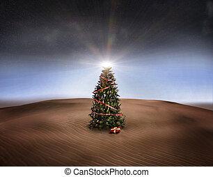 desert christmas - 3d image