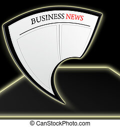business news on abstract tablet pc