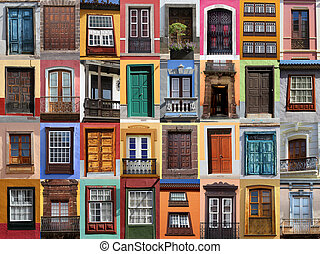 Colorful living - European doors and windows of...