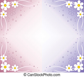 blue flower abstract background
