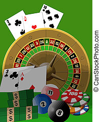 casino theme - Vector illustration poster with casino theme