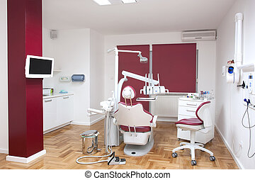 Dentist office in red
