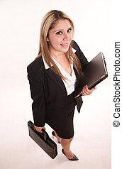 Pretty attractive twenties hispanic business woman...