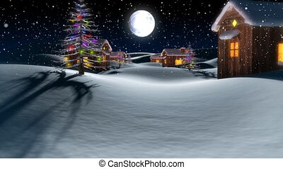 Christmas Town - A Christmas town in winter wonderland.