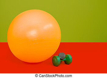 Fitness ball - Colorfull composition of Fitness ball and...