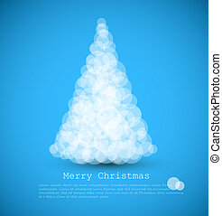 Vector modern card with abstract christmas tree