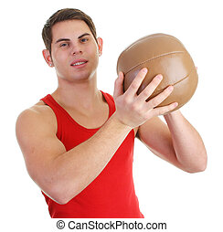 guy with a medicene ball