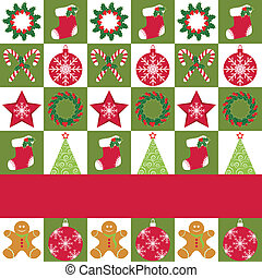 Christmas ornament seamless pattern greeting card -...