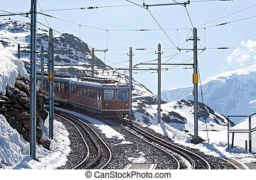 Matterhorn Tram - Tram to Matterhorn peak, Zermatt...