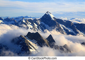 Mountain Cook Peak - landscape of Mountain Cook Peak with...
