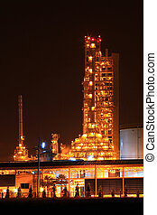 petrochemical oil refinery plant - scenic of petrochemical...
