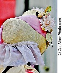 Pioneer bonnet - A women'd old fashion pioneer bonett