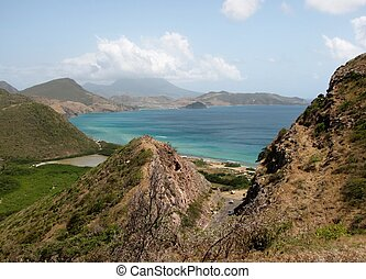 St. kitts landscapes - Mountain and ocean views on the...