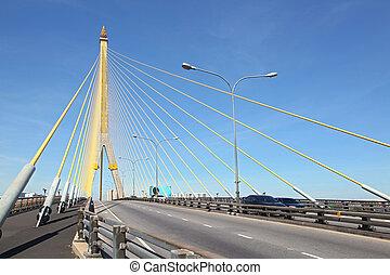 Rama 8 Bridge Bangkok - Mega sling Bridge,Rama 8, near...
