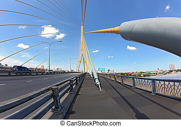 Rama 8 Bridge Bangkok - Mega sling Bridge,Rama 8, near...