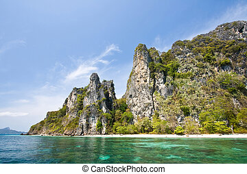 Phi Phi Island Phuket Andaman Thailand - Snokling Point at...