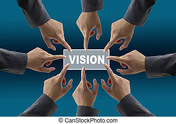 vision of diverse business team - A diverse business team...