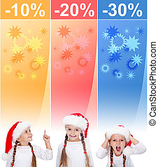 Crazy christmas sale banners with little girl - Crazy...