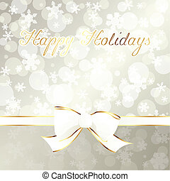 Elegant creamcolored holiday banner