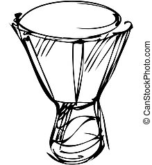 sketch of percussion instruments orchestra - a sketch of...