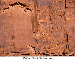 giant sandstone formation in the Monument valley in the...