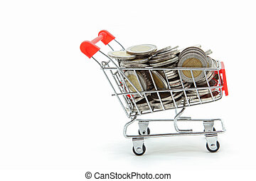 Shopping Cart with Full Wealth Coins