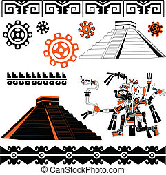 Mayan ornaments - Vector of Mayan ornaments