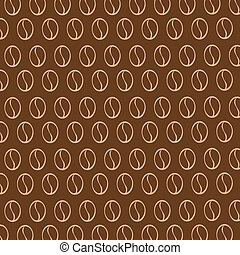 Vector  texture with coffee beans