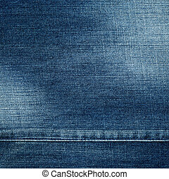 Jeans texture - Worn blue denim jeans texture, background