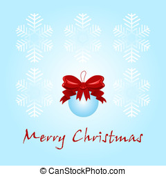Christmas card with a decoration