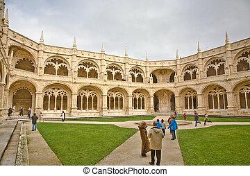 monastery Jeronimos in Belem, near Lisbon, famous monastery...
